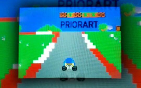 Pseudo mode7 racer engine concept for Commodore 64