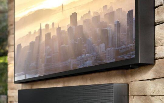 New Samsung Niche TV for Sunny and Rainy Days Outside