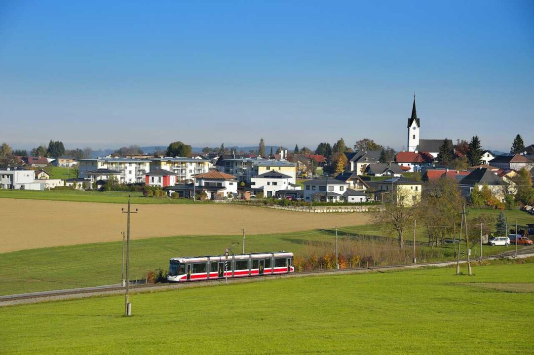 Explore unique Shopping in Austria with Traunseetram Light Rail 1