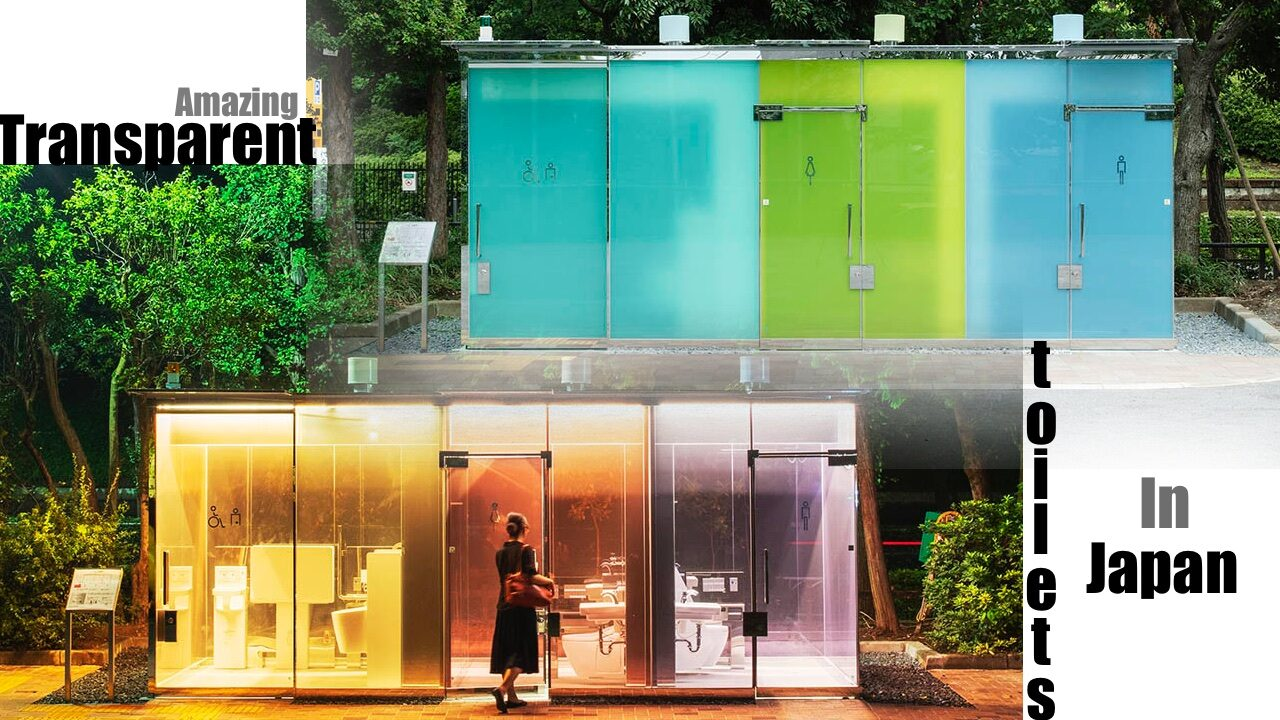 New Transparent Toilets in Tokyo 1