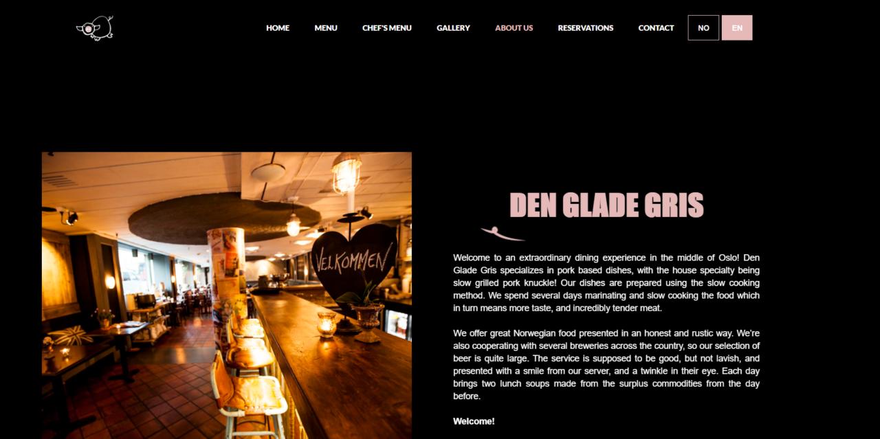 Den Glade Gris Website Oslo