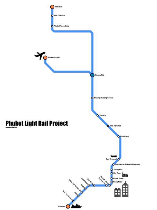 A new light rail tramway Phuket 42KM Project aims at open its service 2026 2