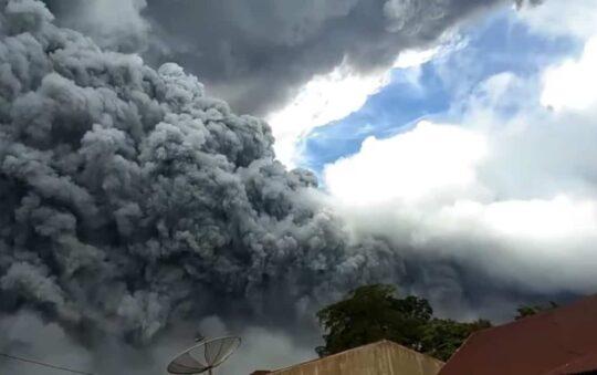Mount Sinabung in Indonesia erupts