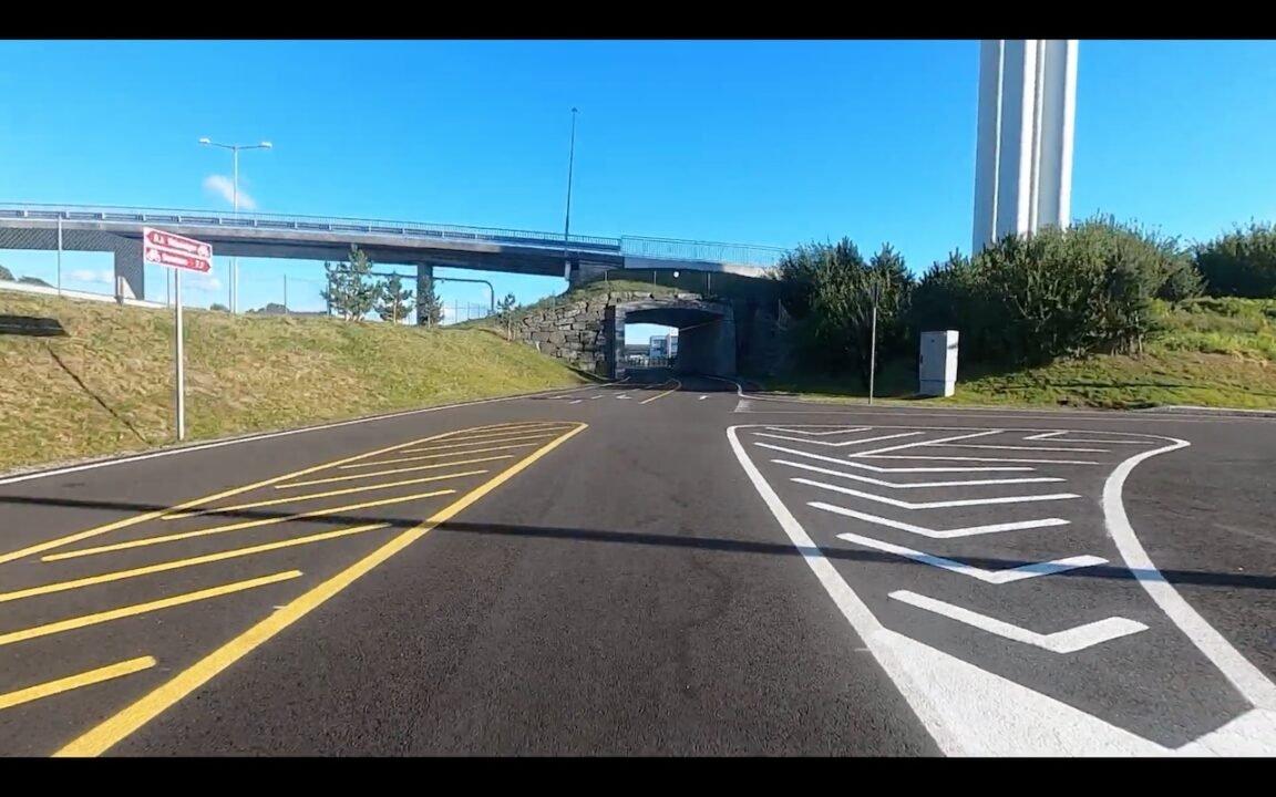 New Bike road with bike-only crossings in Norway 3