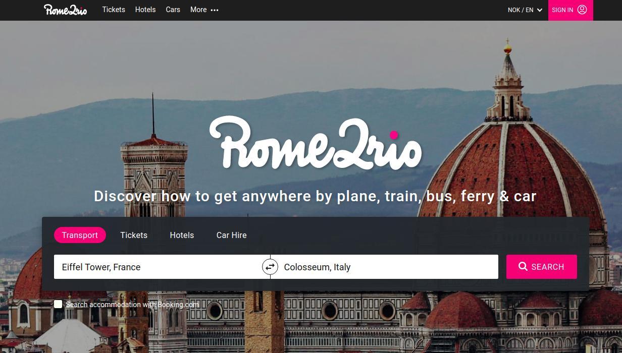 Rome2rio shows where to go easily